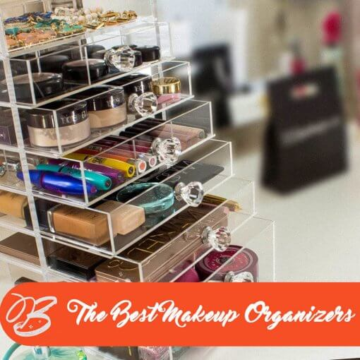 makeup organizer with makeup kit